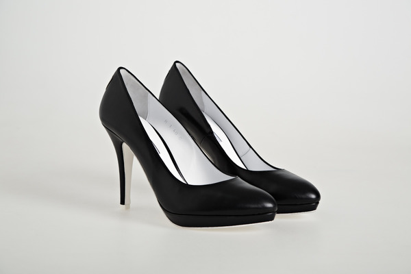 Platform Court Shoes in Black